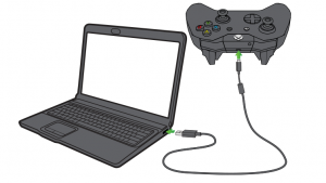 Connect Xbox One Contoller to PC using USB cable