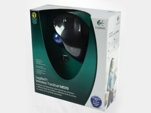 Logitech m570 Wireless trackball Mouse Box