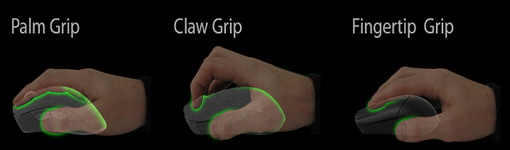 Grip Styles for mouse