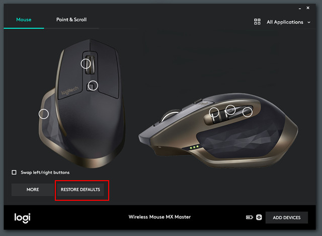 How to reset Logitech mouse
