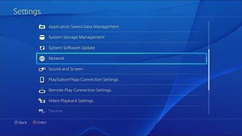 Configure Internet on PS4 using LAN cable